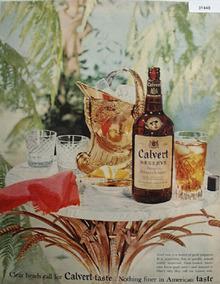 Calvert whiskey American Taste 1954 Ad