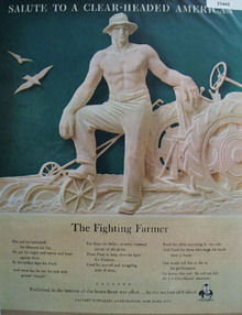 Calvert Salute to the Fighting Farmer 1944 Ad