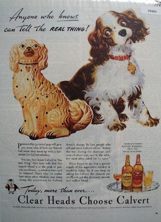 Calvert Whiskey Real Thing 1944 Ad