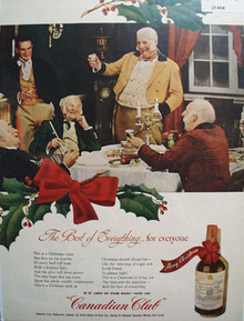 Canadian Club Whiskey Christmas 1945 Ad