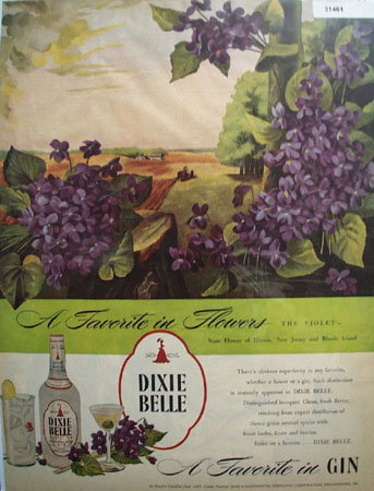 Dixie Bell A Favorite in Gin 1946 Ad