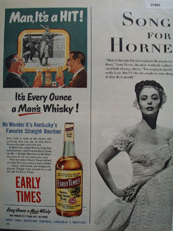 Early Times Mans Whiskey 1951 Ad