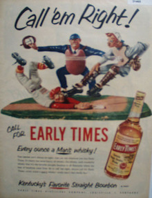 Early Times Mans Whiskey 1952 Ad