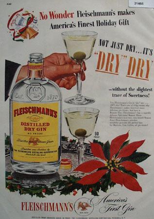 Fleischmanns Americas First Gin 1948 Ad