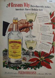Fleischmanns Holiday Gin 1947 Ad