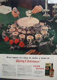 Four Roses Merry Christmas 1948 Ad
