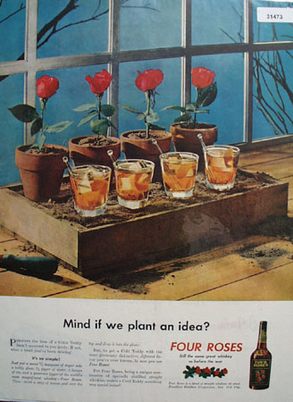 Four Roses Cold Toddy 1946 Ad