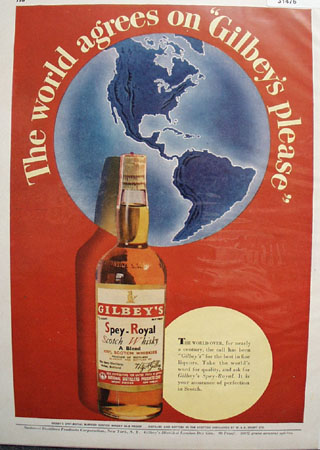 Gilbeys Spey Royal Scotch Whiskey 1948 Ad
