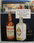 Gilbeys Distilled London Dry Gin 1950 Ad