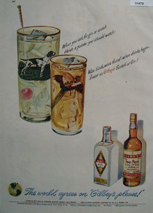 Giblelys Scotch and Gin 1949 Ad