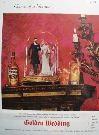 Golden wedding Blended Whiskey 1945 Ad