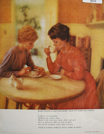 Pan American Coffee Bureau Like Friendship Ad 1961