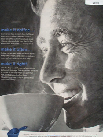 Pan American Coffee Bureau Make It Coffee Ad 1961