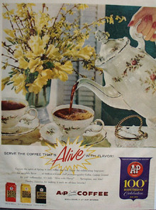 A and P Coffee Alive With Flavor Ad 1959