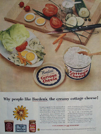 Bordens Cottage Cheese Why People Like Ad 1954