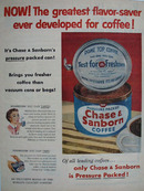 Chase and Sanborn Dome Top Coffee Ad 1954