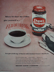 Chase And Sanborn Coffee Flavor Break Ad 1957