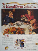 Maxwell House Coffee Thanksgiving Ad 1945