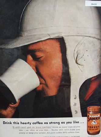 Sanka Coffee  Strong As You Like Ad 1957
