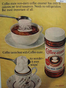 Coffee Mate It Even Whips Ad 1965