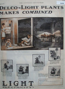 Delco Light Plants Makes Combined Ad 1927