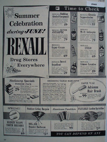 Rexall Drug Stores June Celebration Ad 1954