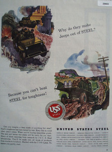 Unites States Steel Jeeps Out Of Steel Ad 1944