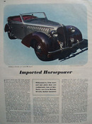Imported Foreign Sports Cars Article 1948