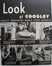 Crosley Quality Procedure Ad 1939