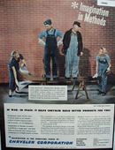 Chrysler Imagination In Methods Ad 1945