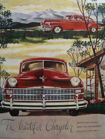 Chrysler The Beautiful Chrysler Ad 1946