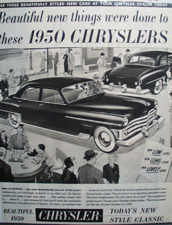 Chrysler Beautiful Things Were Done Ad 1950