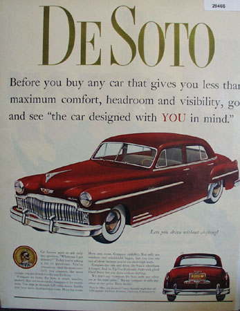 DeSoto Designed With You In Mind Ad 1944