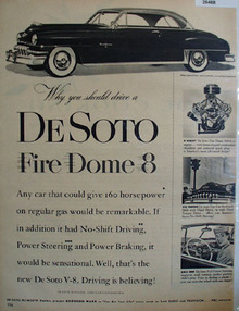 DeSoto Fire Dome 8 You Should Drive Ad 1952