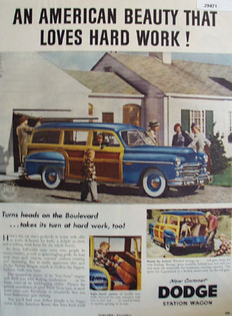 Dodge All American Beauty Ad 1949