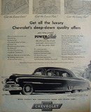 Chevrolet Get All the Luxury Ad 1951