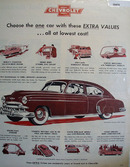 Chevrolet Extra Values Lowest Cost Ad 1949