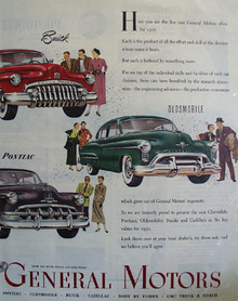 General Motors Presents Key Values For 1950 Ad 1950