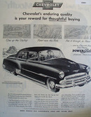 Chevrolet Reward For Thoughtful Buying Ad 1951