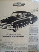 Chevrolet First In Americas Favor Ad 1951