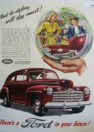 Ford Styling Will Stay Smart Ad 1945