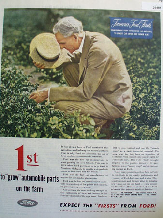 Ford Grows Automobile Parts On The Farm Ad 1946