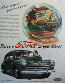 Ford Brakes To Trust Quick and Quiet Ad 1946