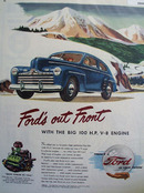 Ford Is Out  Front Ad 1946