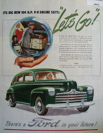 Ford Let Us Go Ad 1946