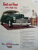 Ford Out Front With High I.Q. Ad 1947