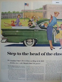Ford Step To Head Of Class Ad 1956
