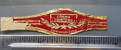 Crema Quintero Cigar Band