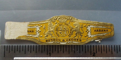 Benson & Hedges Habana Cigar Band