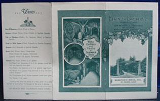 Beringer Brothers Wine Cookbook 20th Century